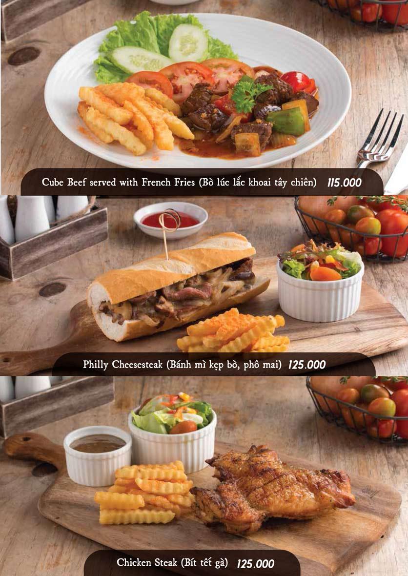 Menu Downtown Steakhouse - Hoa Mai 13