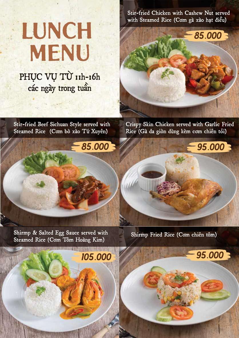 Menu Downtown Steakhouse - Hoa Mai 16