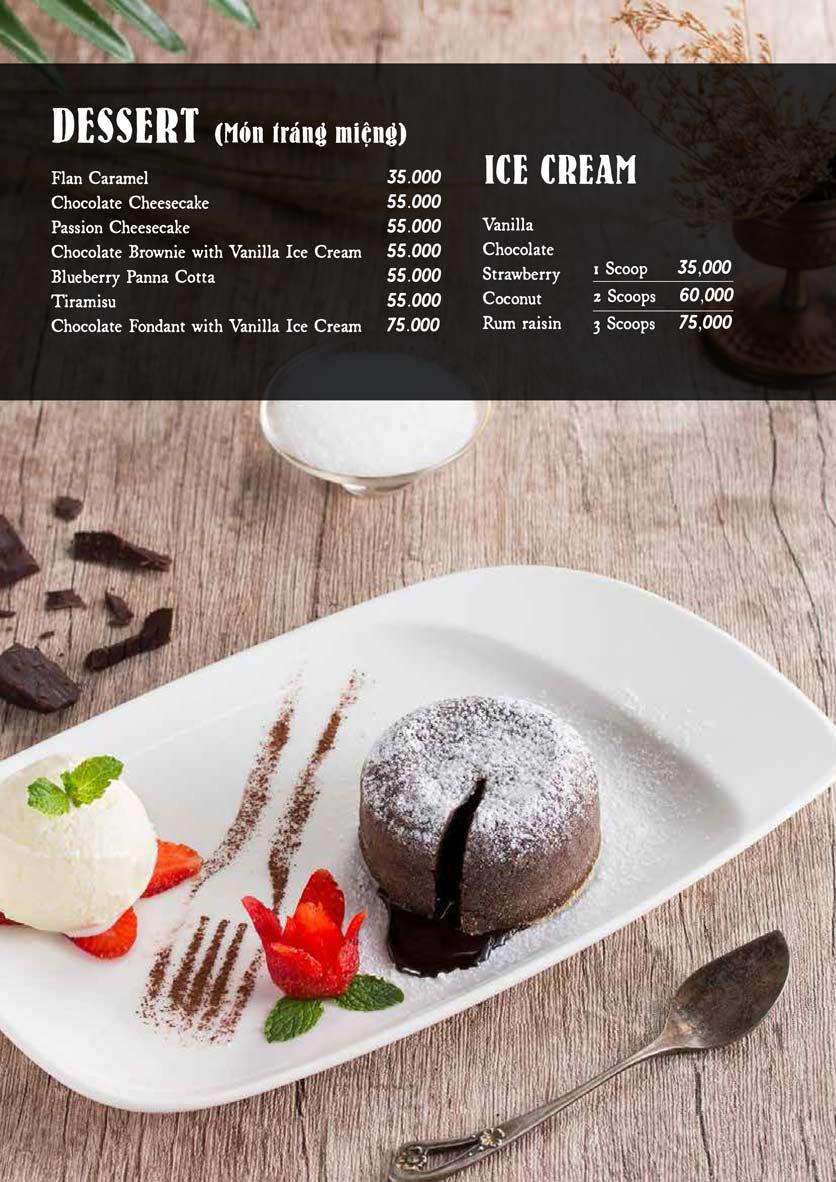 Menu Downtown Steakhouse - Hoa Mai 17