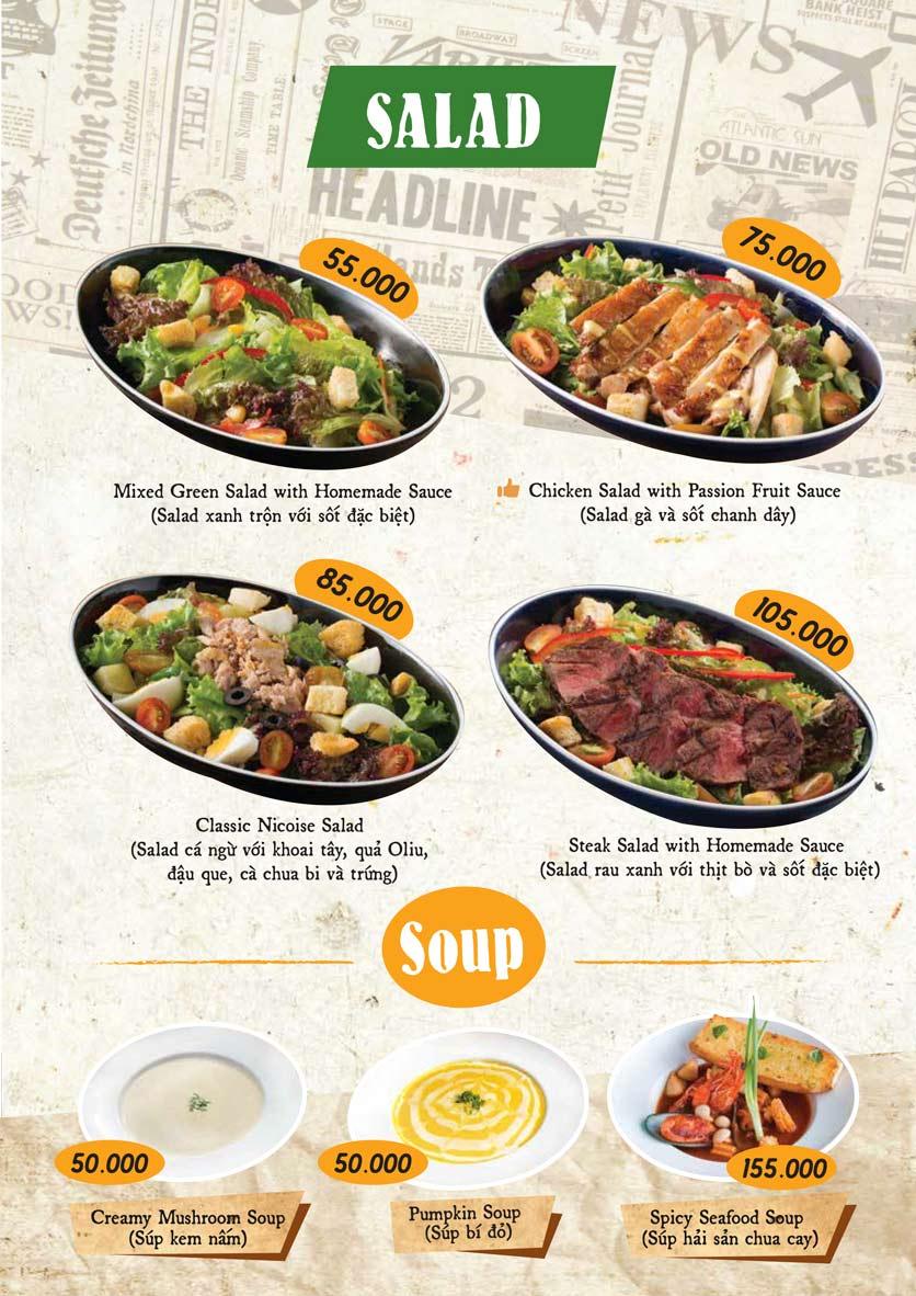 Menu Downtown Steakhouse - Hoa Mai 3