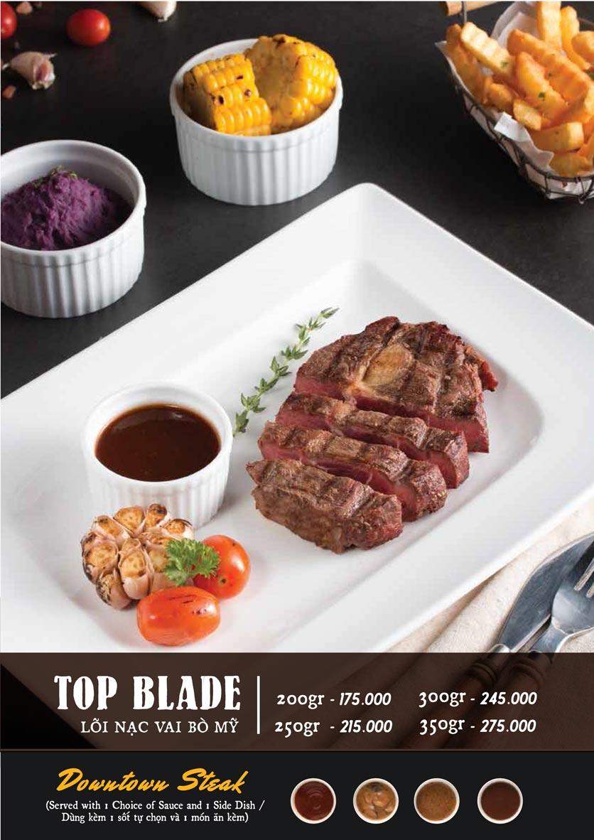 Menu Downtown Steakhouse - Hoa Mai 4