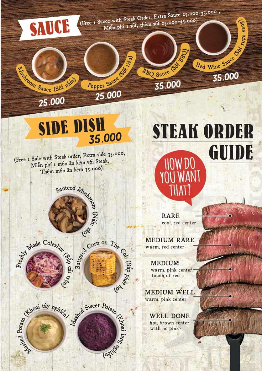 Menu Downtown Steakhouse - Hoa Mai 7