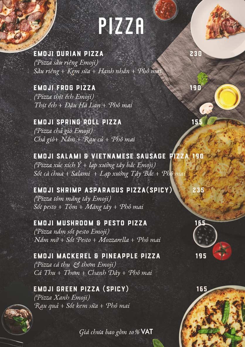 Menu Emoji Pizza - Hoàng Dư Khương  6