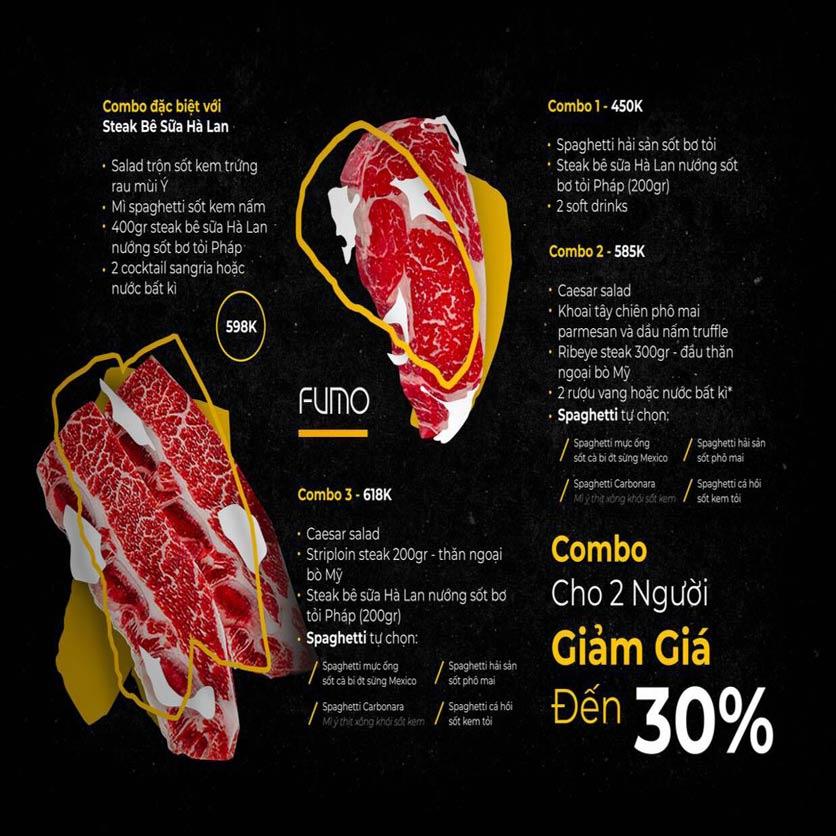 Menu FUMO - Steak & Pasta - Hai Bà Trưng   1