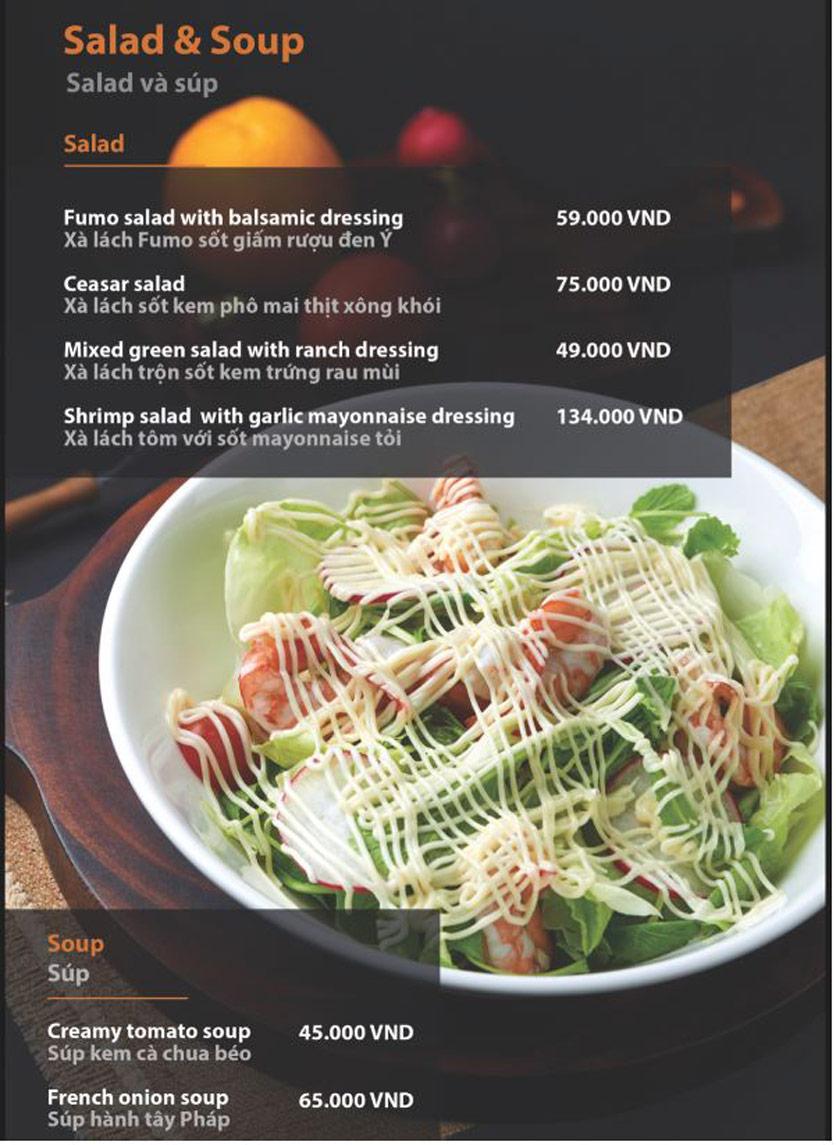 Menu FUMO - Steak & Pasta - Hai Bà Trưng   5