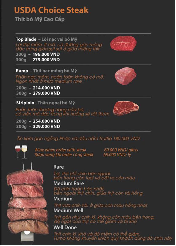 Menu FUMO - Steak & Pasta - Hai Bà Trưng   8