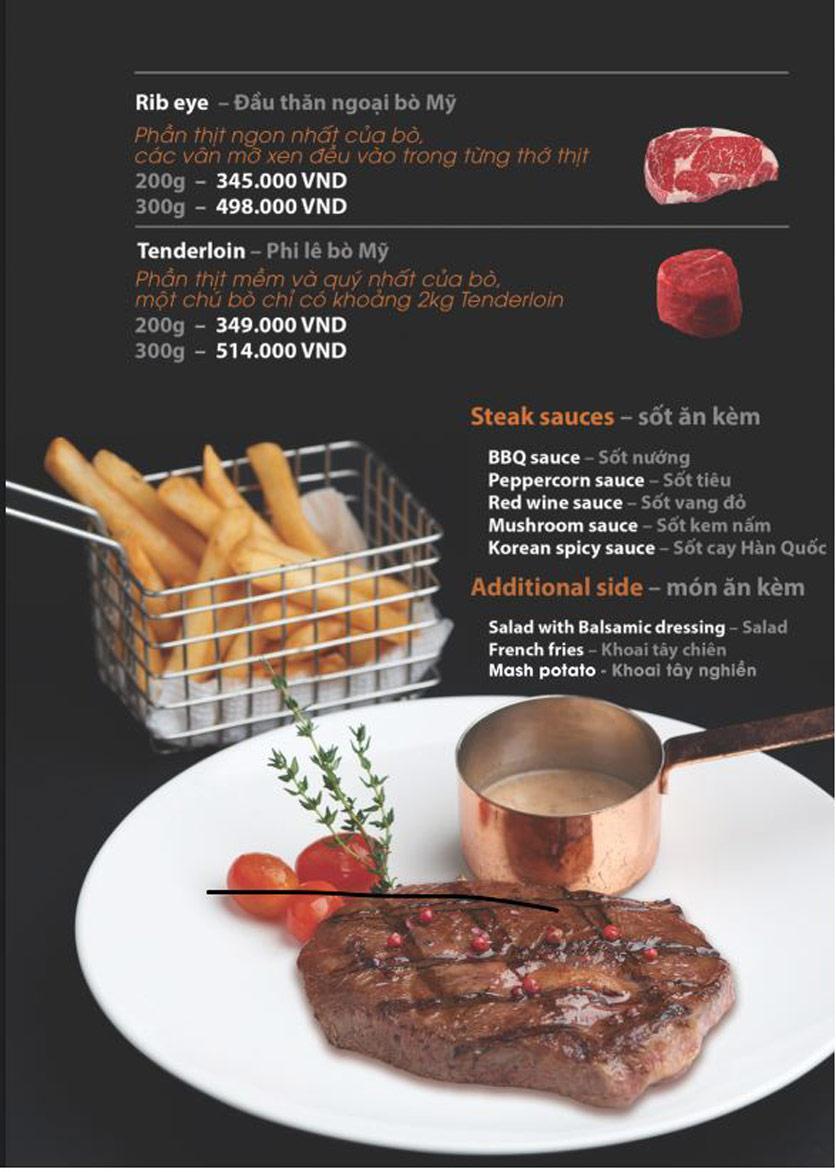 Menu FUMO - Steak & Pasta - Hai Bà Trưng   9