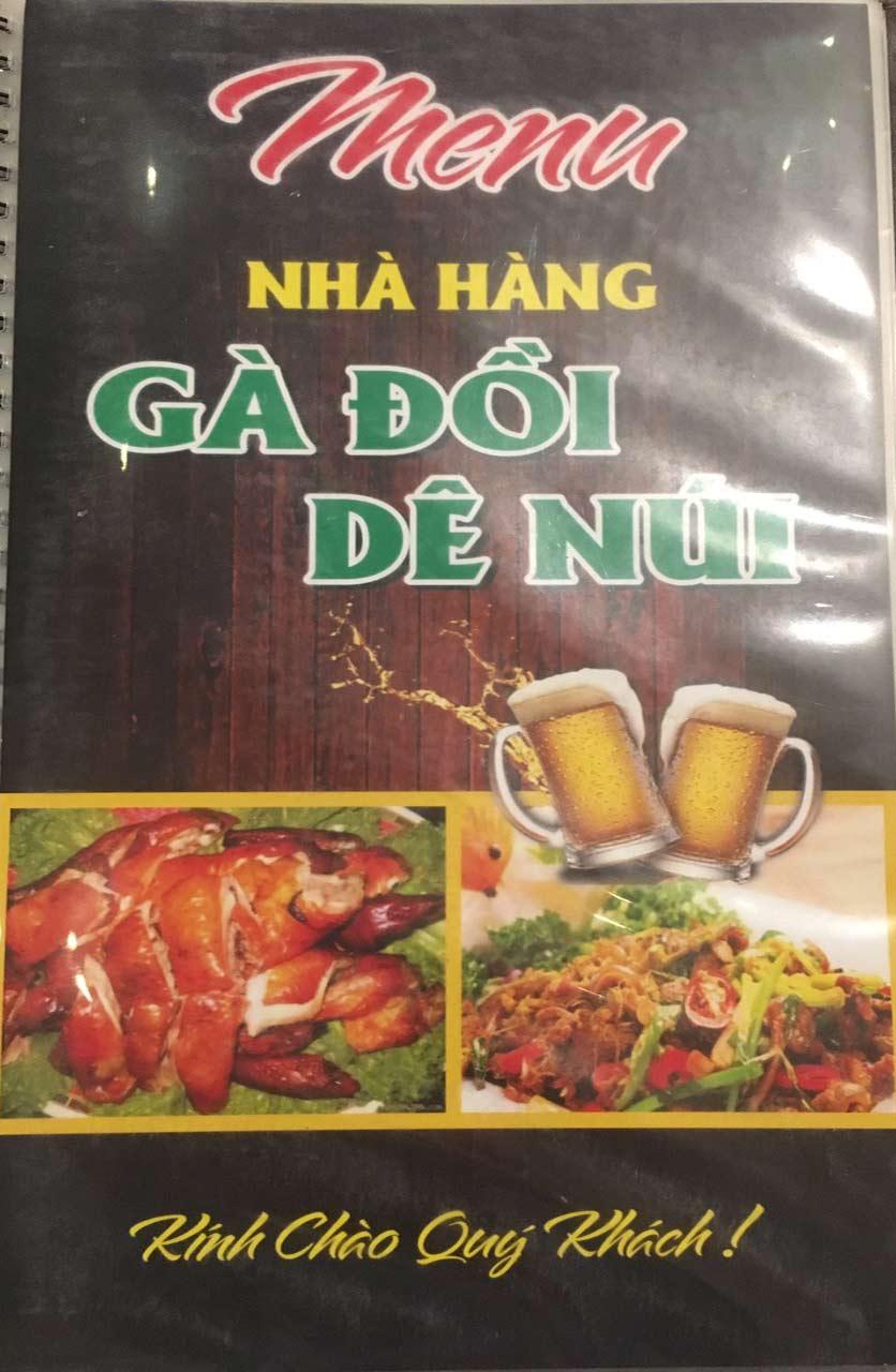 Menu Gà Đồi Dê Núi -  Nguyễn Hoàng 1