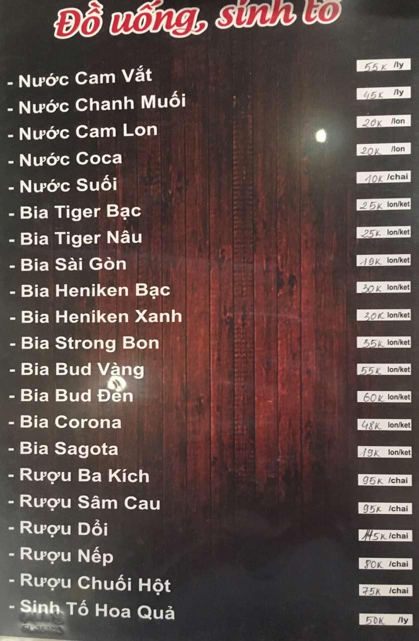Menu Gà Đồi Dê Núi -  Nguyễn Hoàng 9