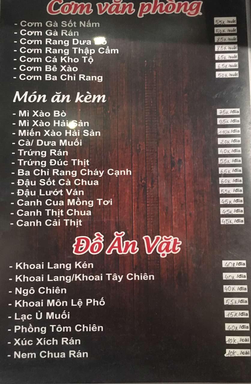 Menu Gà Đồi Dê Núi -  Nguyễn Hoàng 3
