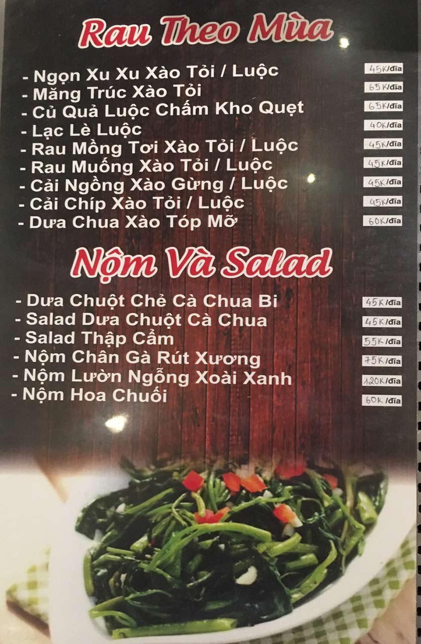 Menu Gà Đồi Dê Núi -  Nguyễn Hoàng 5