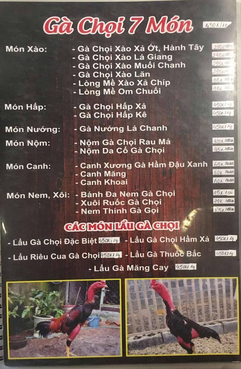 Menu Gà Đồi Dê Núi -  Nguyễn Hoàng 6