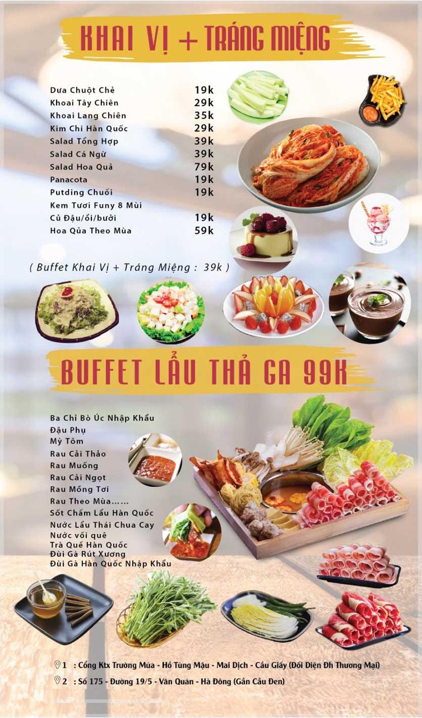 Menu GOPchain – Quán thịt nướng & lẩu Hàn Quốc – Nguyễn Khuyến 1