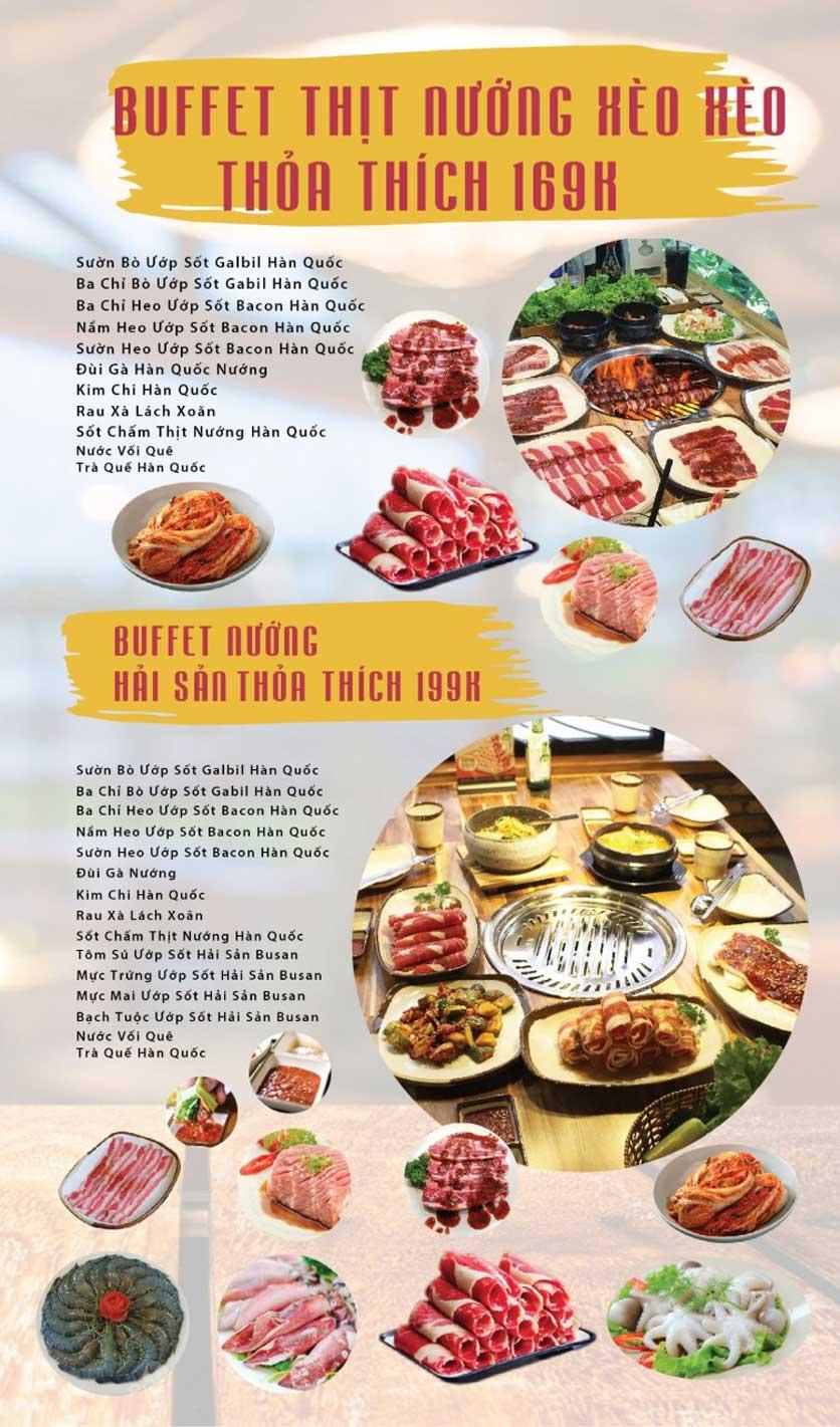 Menu GOPchain – Quán thịt nướng & lẩu Hàn Quốc – Nguyễn Khuyến 3