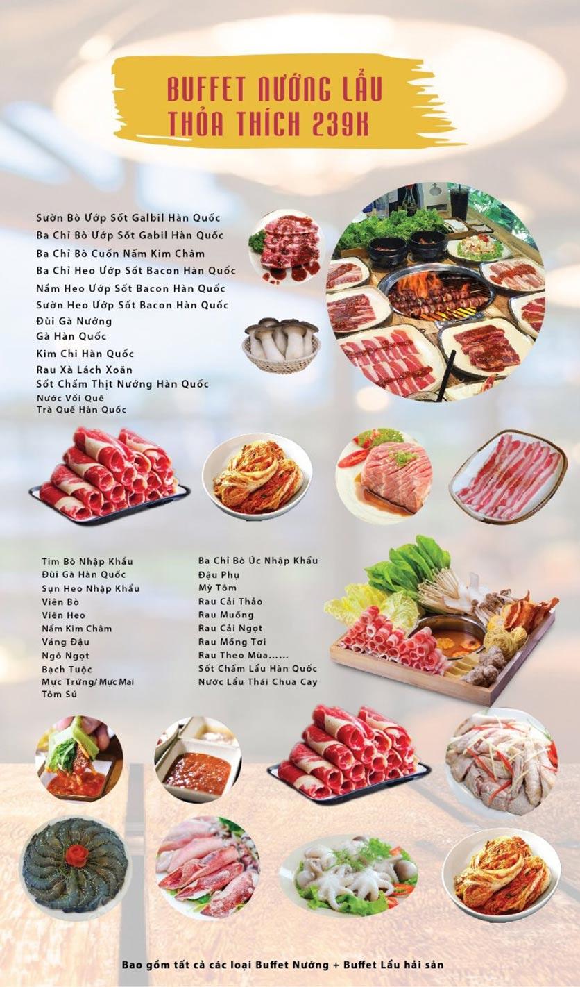 Menu GOPchain – Quán thịt nướng & lẩu Hàn Quốc – Nguyễn Khuyến 4