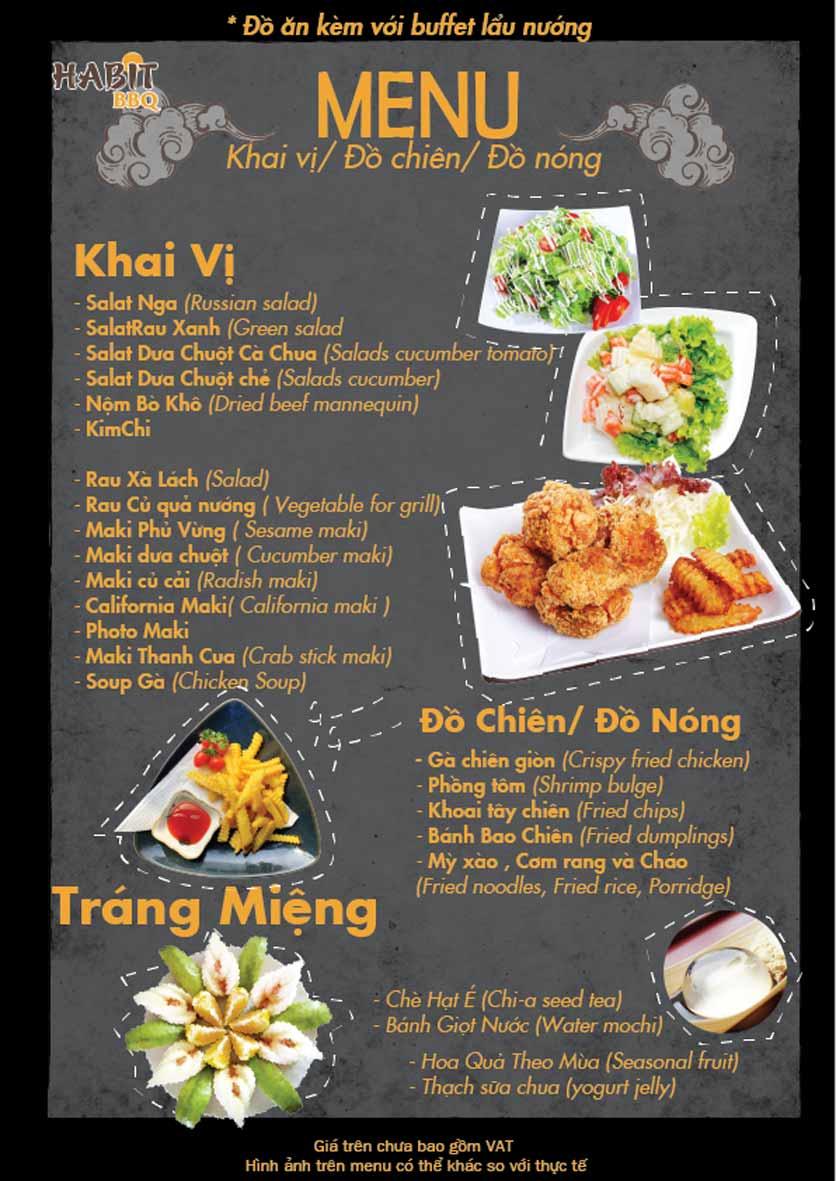 Menu Habit BBQ - Dịch Vọng Hậu 1