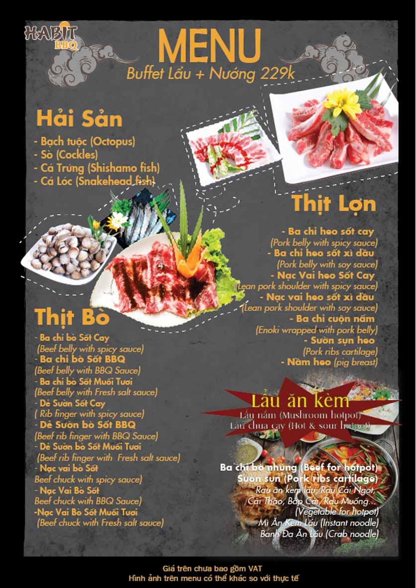 Menu Habit BBQ - Dịch Vọng Hậu 3
