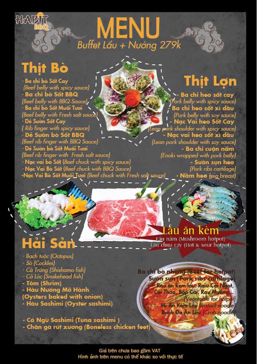 Menu Habit BBQ - Dịch Vọng Hậu 4