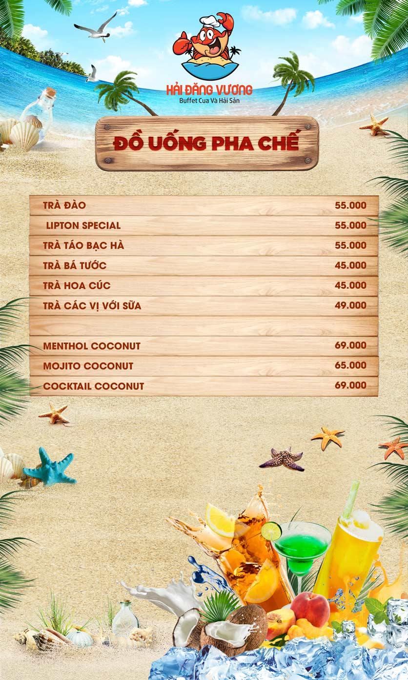 Menu Hải Đăng Vương  - Buffet Cua & Hải Sản- Vincom Nguyễn Chí Thanh 11