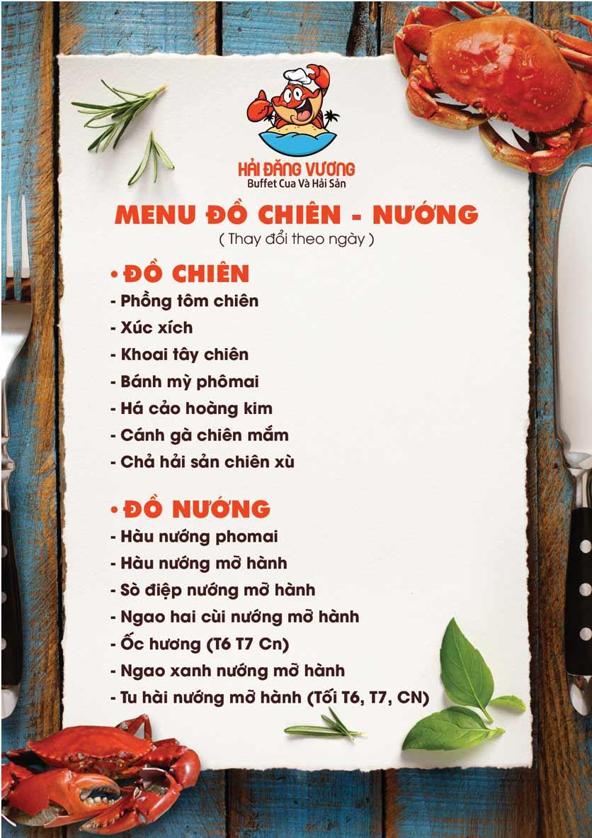 Menu Hải Đăng Vương  - Buffet Cua & Hải Sản- Vincom Nguyễn Chí Thanh 4