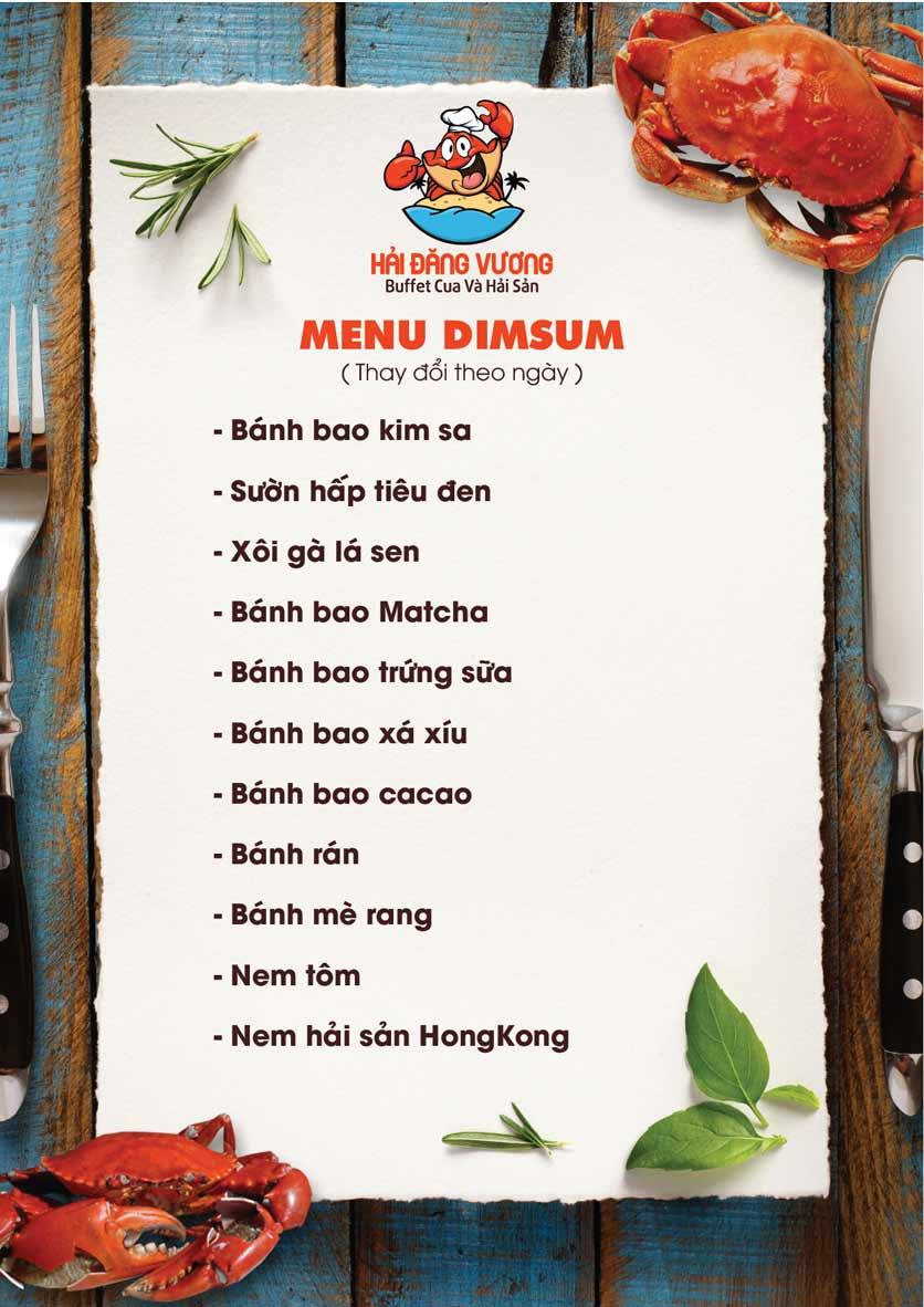 Menu Hải Đăng Vương  - Buffet Cua & Hải Sản- Vincom Nguyễn Chí Thanh 7