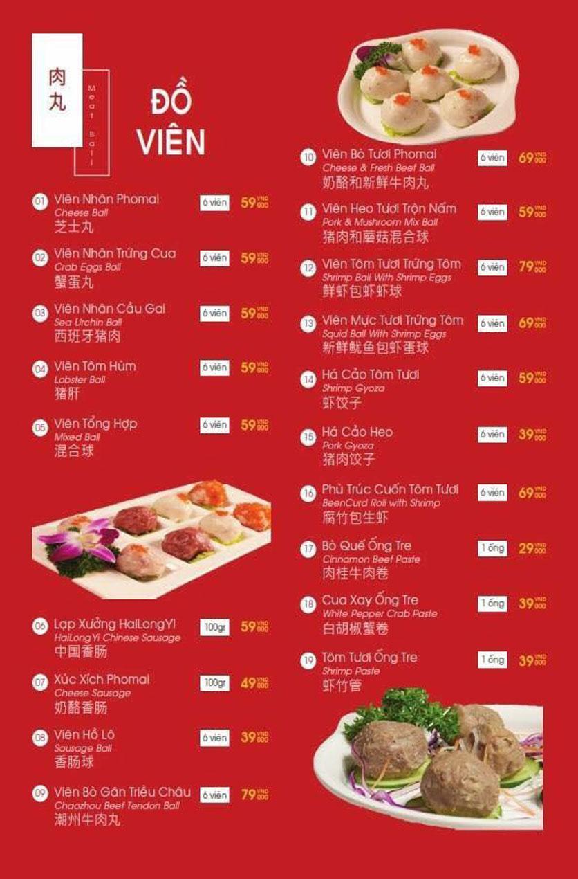 Menu Hailong Yi HongKong Hotpot - Lò Đúc 26