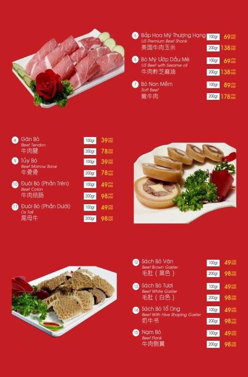 Menu Hailong Yi HongKong Hotpot - Lò Đúc 34