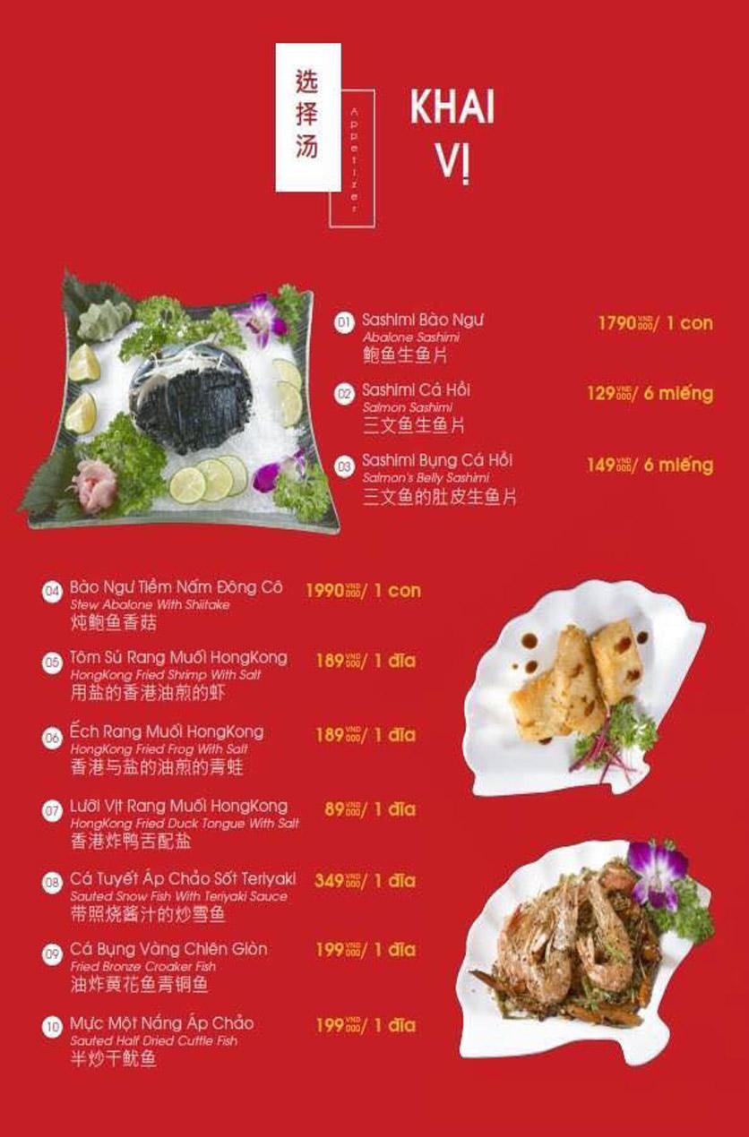 Menu Hailong Yi HongKong Hotpot - Lò Đúc 22