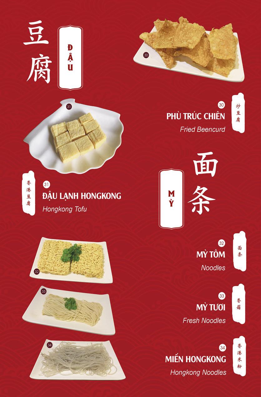 Menu Hailong Yi HongKong Hotpot - Lò Đúc 17
