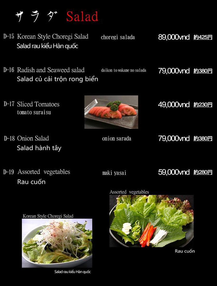 Menu Hibiki BBQ - Nguyễn Hữu Cảnh 10