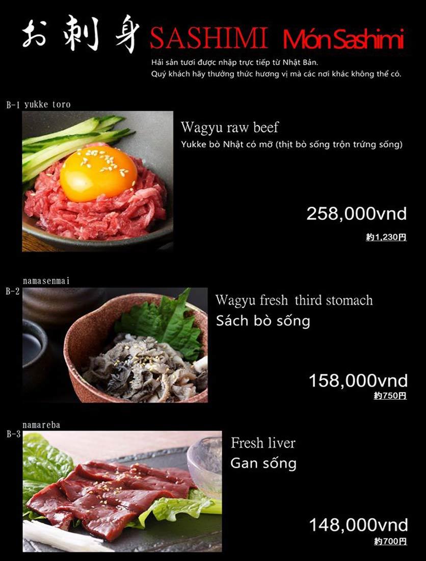 Menu Hibiki BBQ - Nguyễn Hữu Cảnh 3