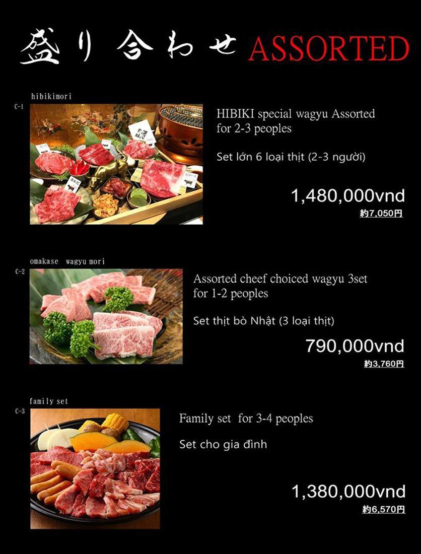 Menu Hibiki BBQ - Nguyễn Hữu Cảnh 5