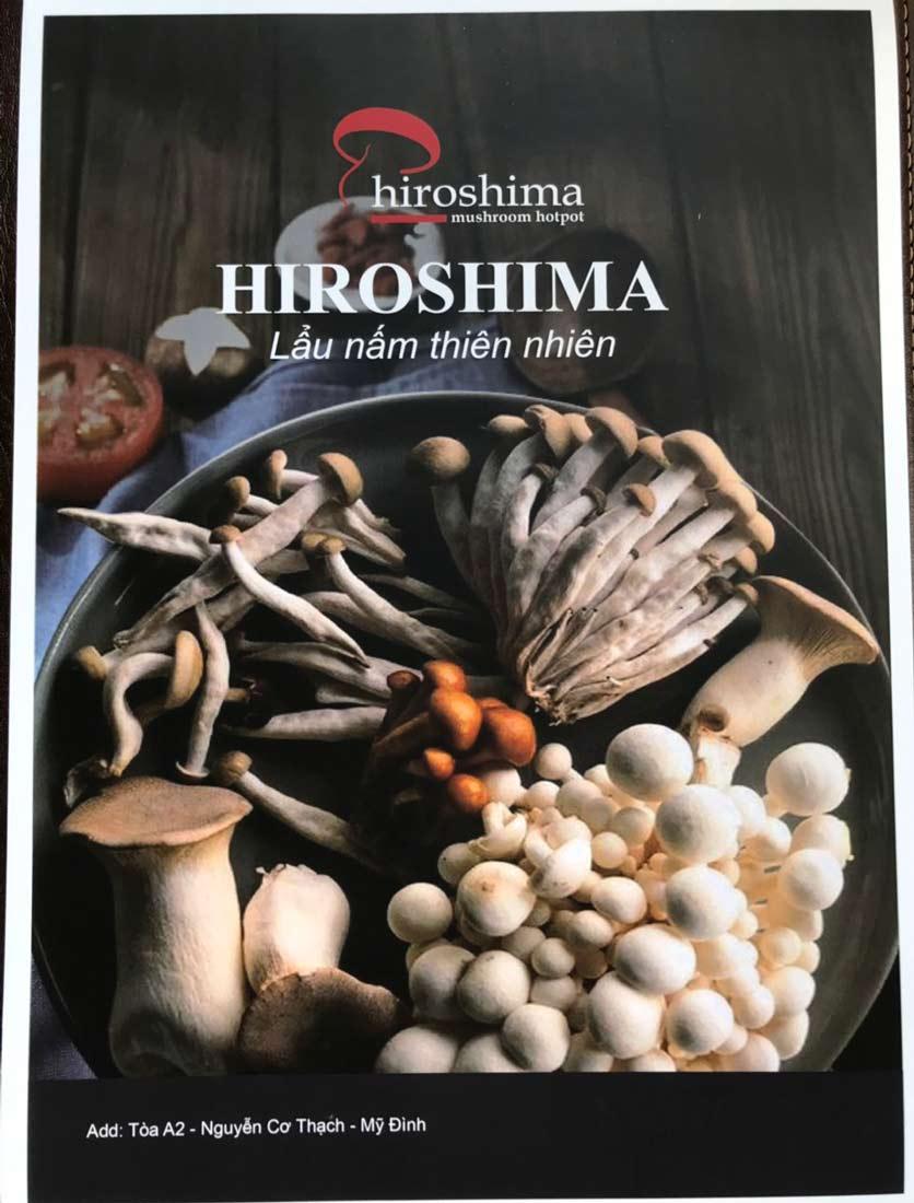 Menu Hiroshima Lẩu Nấm Thiên Nhiên - Nguyễn Cơ Thạch 9