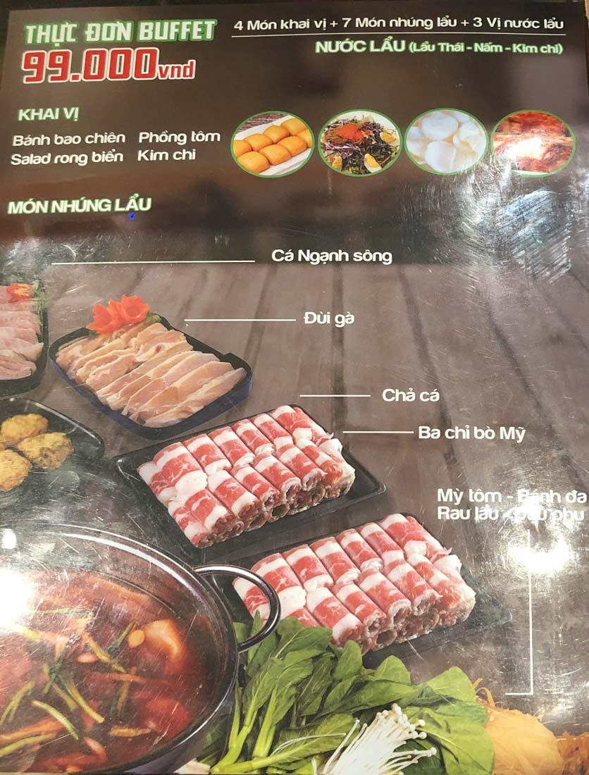 Menu HP3 Buffet Lẩu - Nguyễn Văn Lộc 1