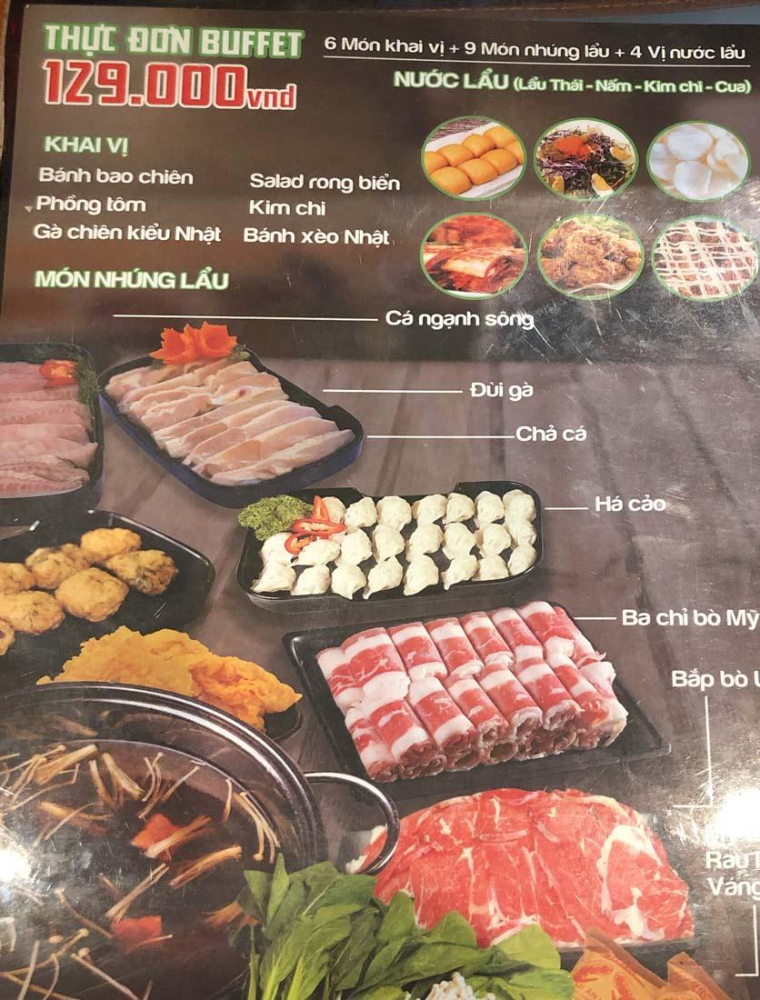 Menu HP3 Buffet Lẩu - Nguyễn Văn Lộc 2