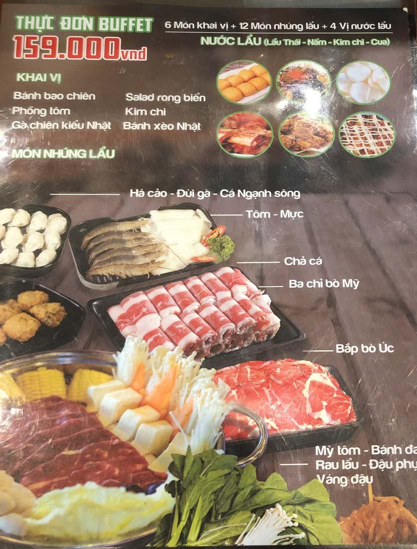 Menu HP3 Buffet Lẩu - Nguyễn Văn Lộc 3