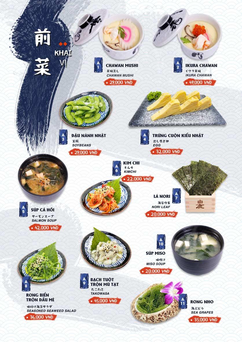 Menu Ikigai Sushi - Nguyễn Trọng Tuyển 1