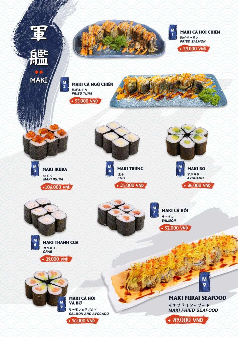 Menu Ikigai Sushi - Nguyễn Trọng Tuyển 10