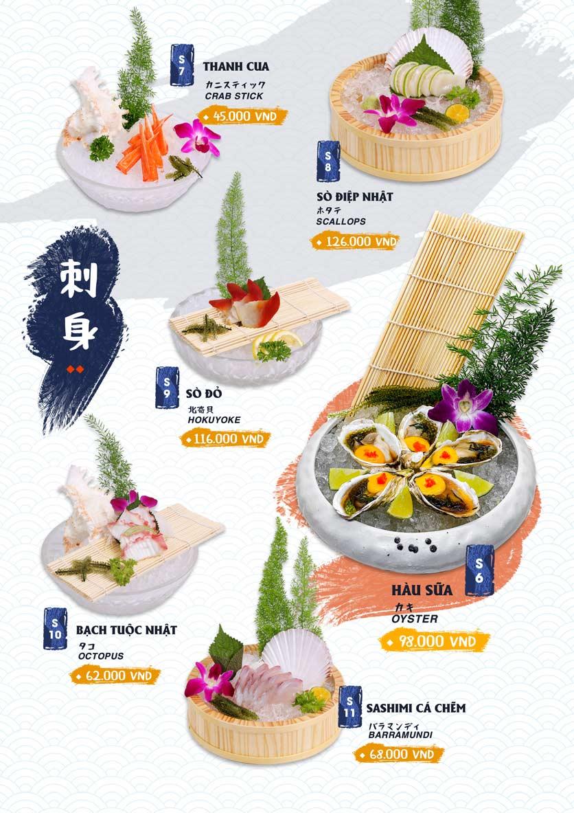 Menu Ikigai Sushi - Nguyễn Trọng Tuyển 3