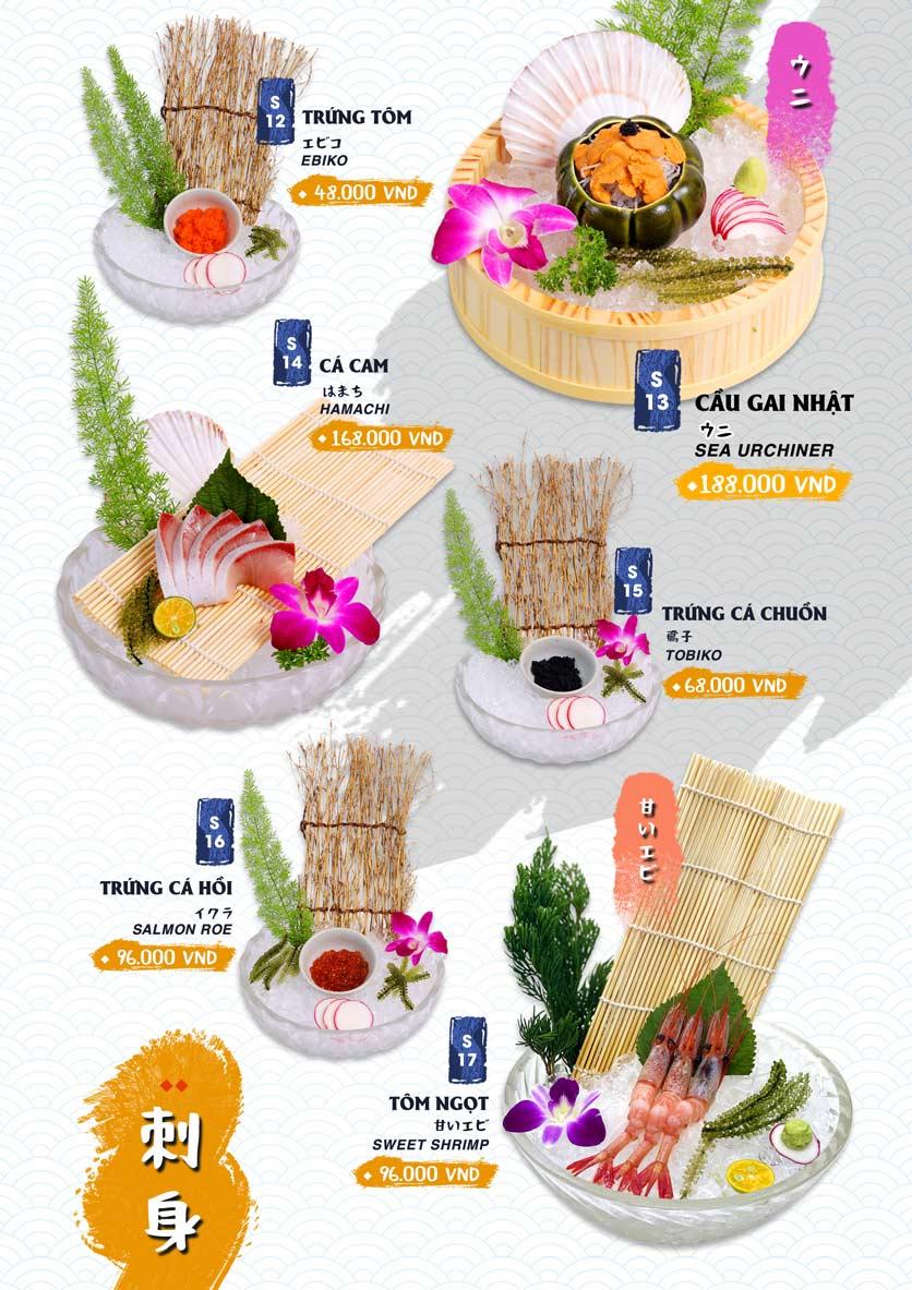 Menu Ikigai Sushi - Nguyễn Trọng Tuyển 4
