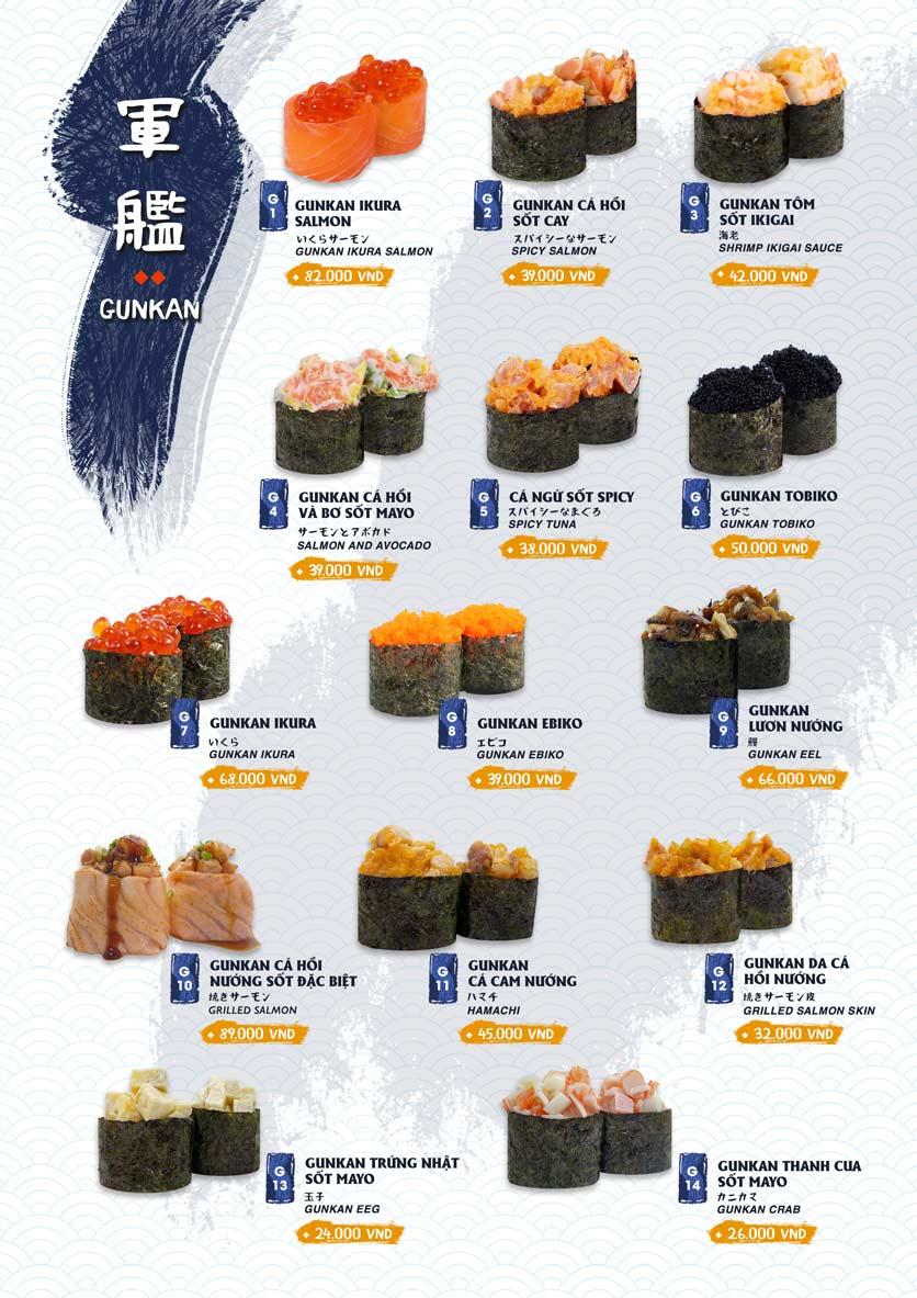 Menu Ikigai Sushi - Nguyễn Trọng Tuyển 7