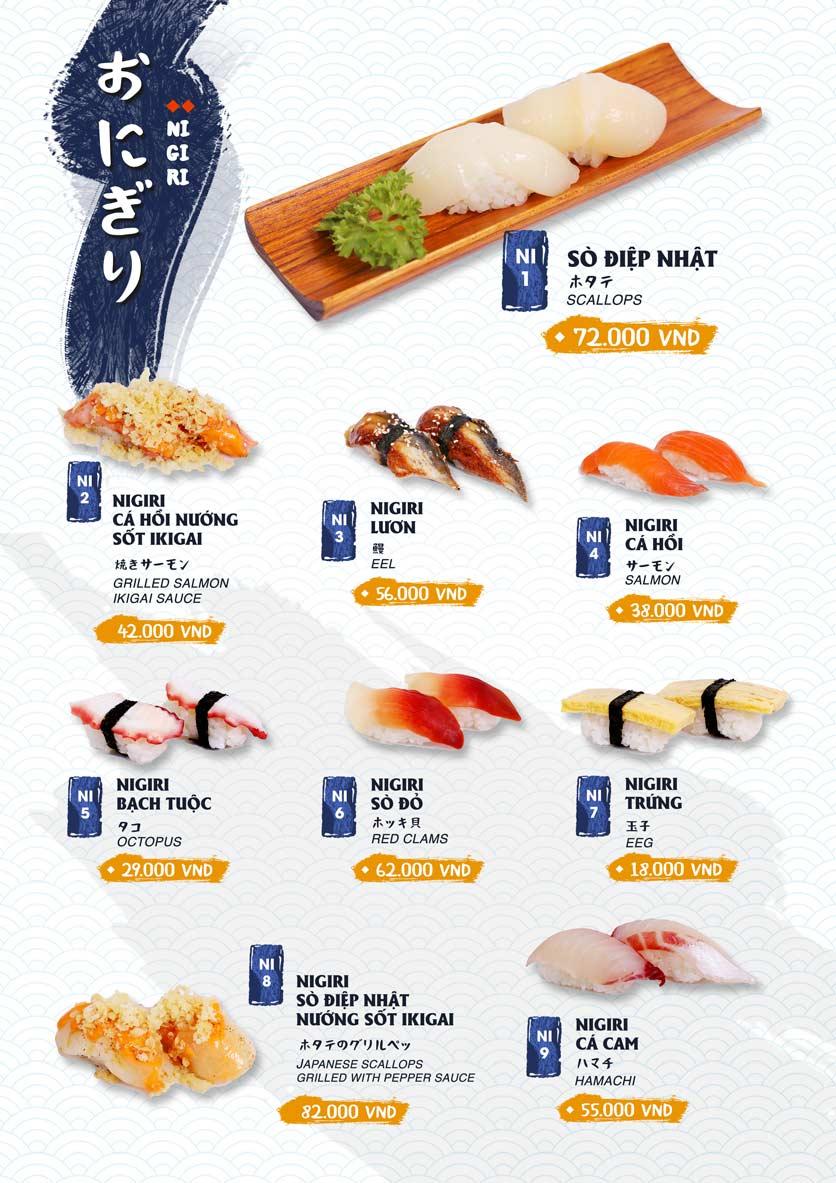 Menu Ikigai Sushi - Nguyễn Trọng Tuyển 8