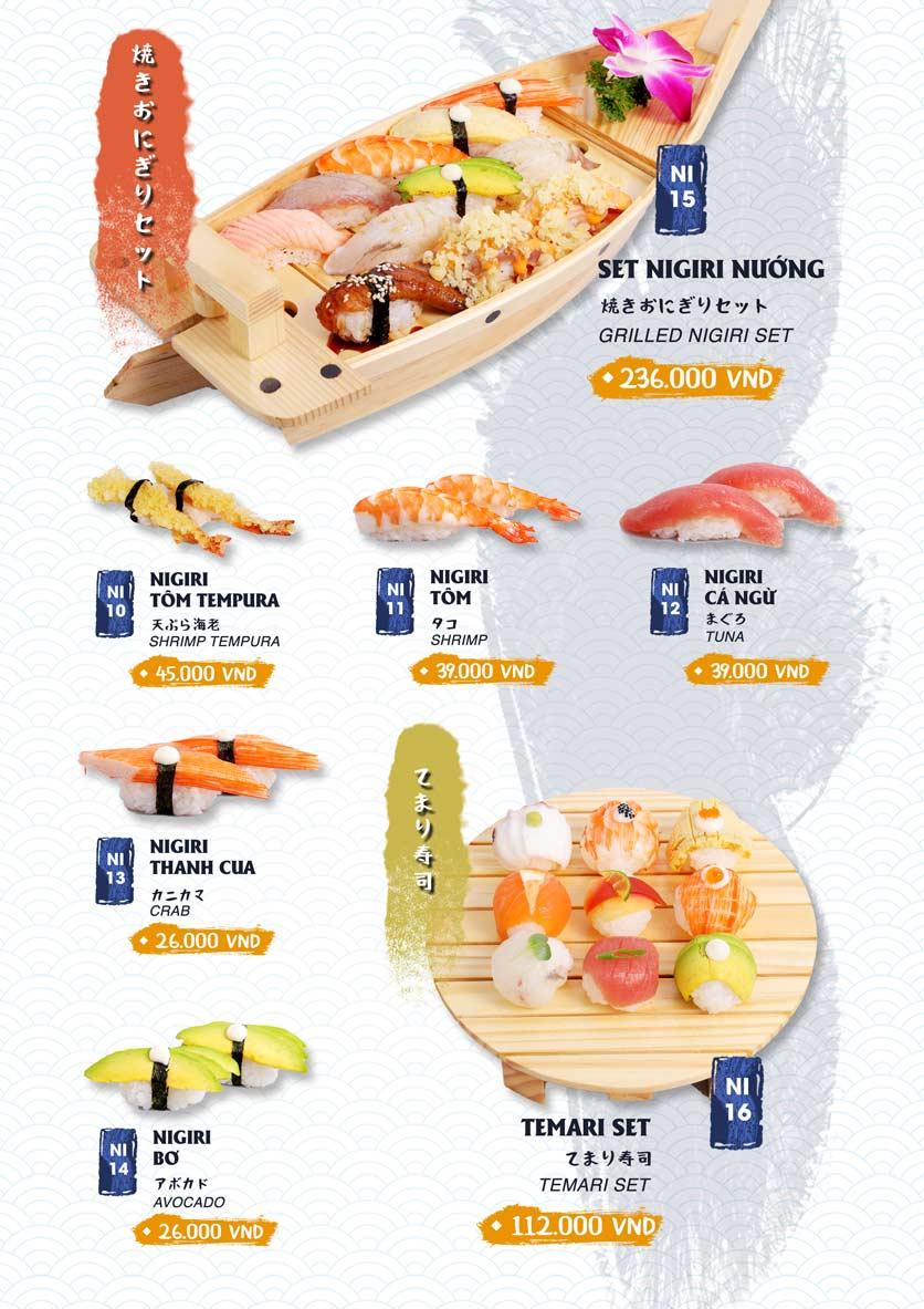 Menu Ikigai Sushi - Nguyễn Trọng Tuyển 9