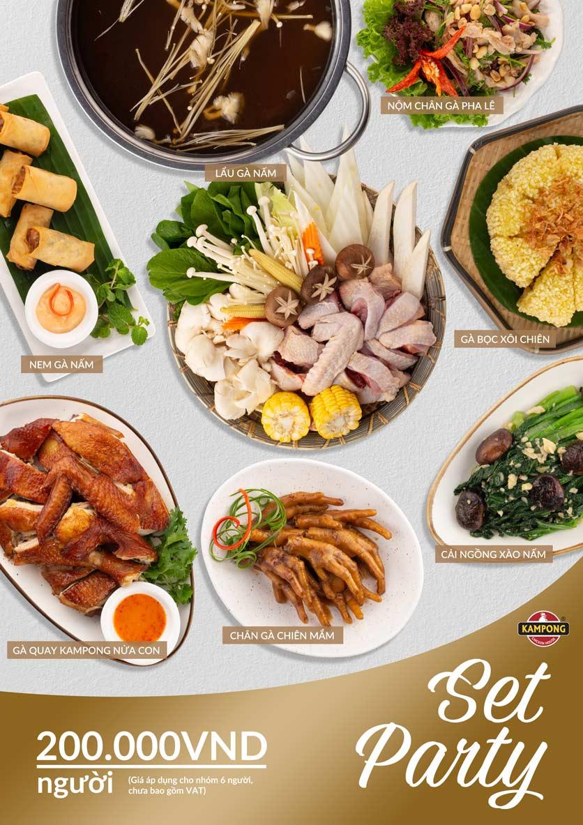 Menu Kampong Chicken House - Cơm gà Hải Nam - Lò Đúc 5