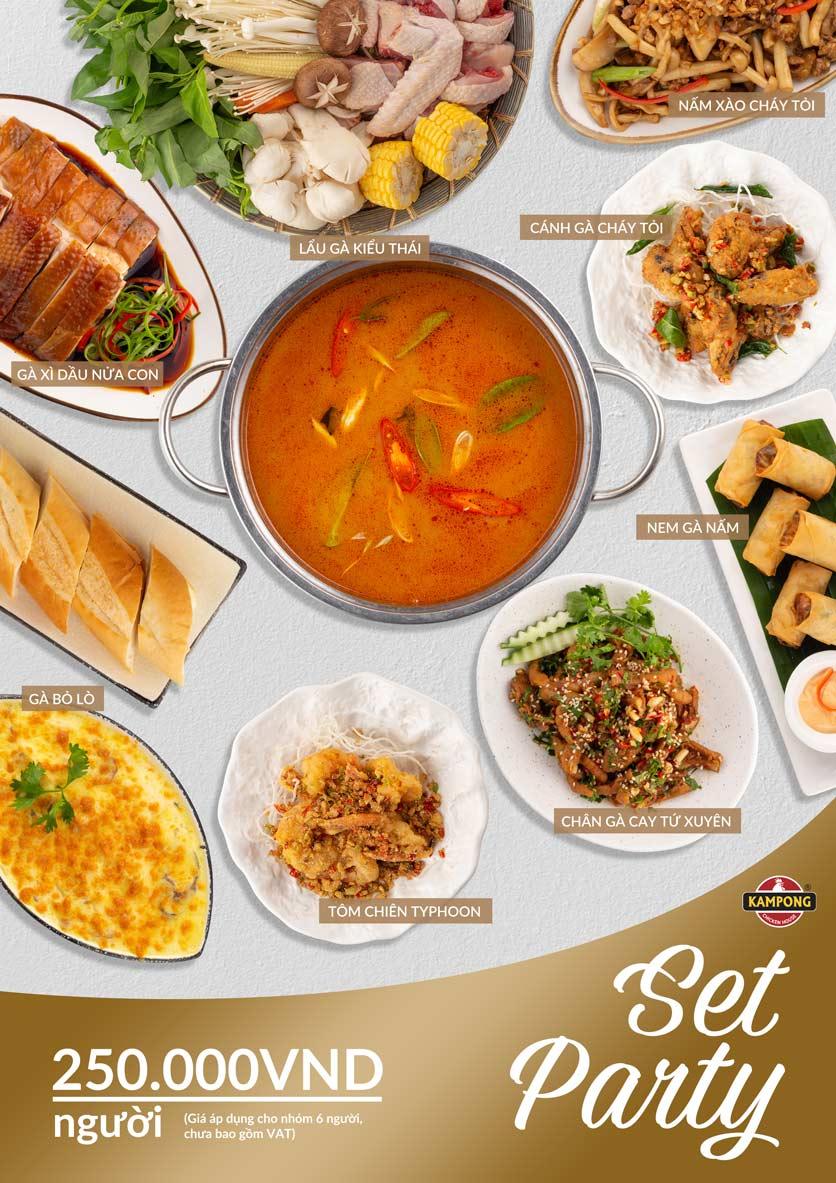 Menu Kampong Chicken House - Cơm gà Hải Nam - Lò Đúc 8