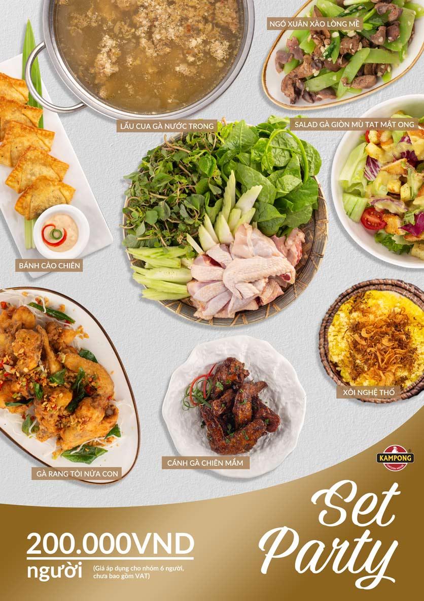 Menu Kampong Chicken House - Cơm gà Hải Nam - Lò Đúc 2