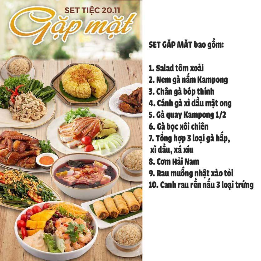 Menu Kampong Chicken House - Cơm gà Hải Nam - Lò Đúc 1