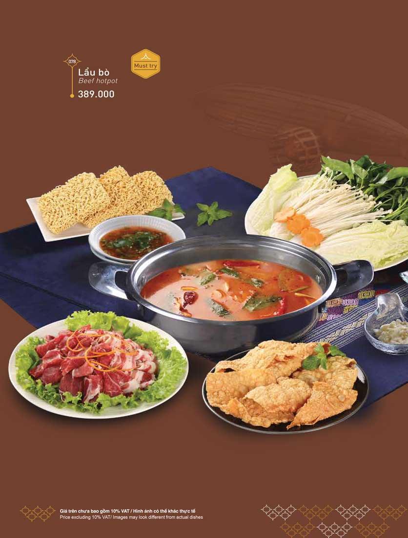 Menu Khao Lao - Duy Tân 19