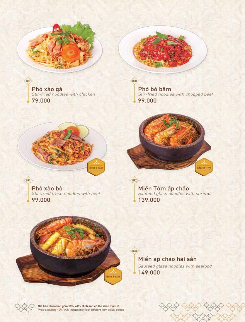 Menu Khao Lao - Duy Tân 24