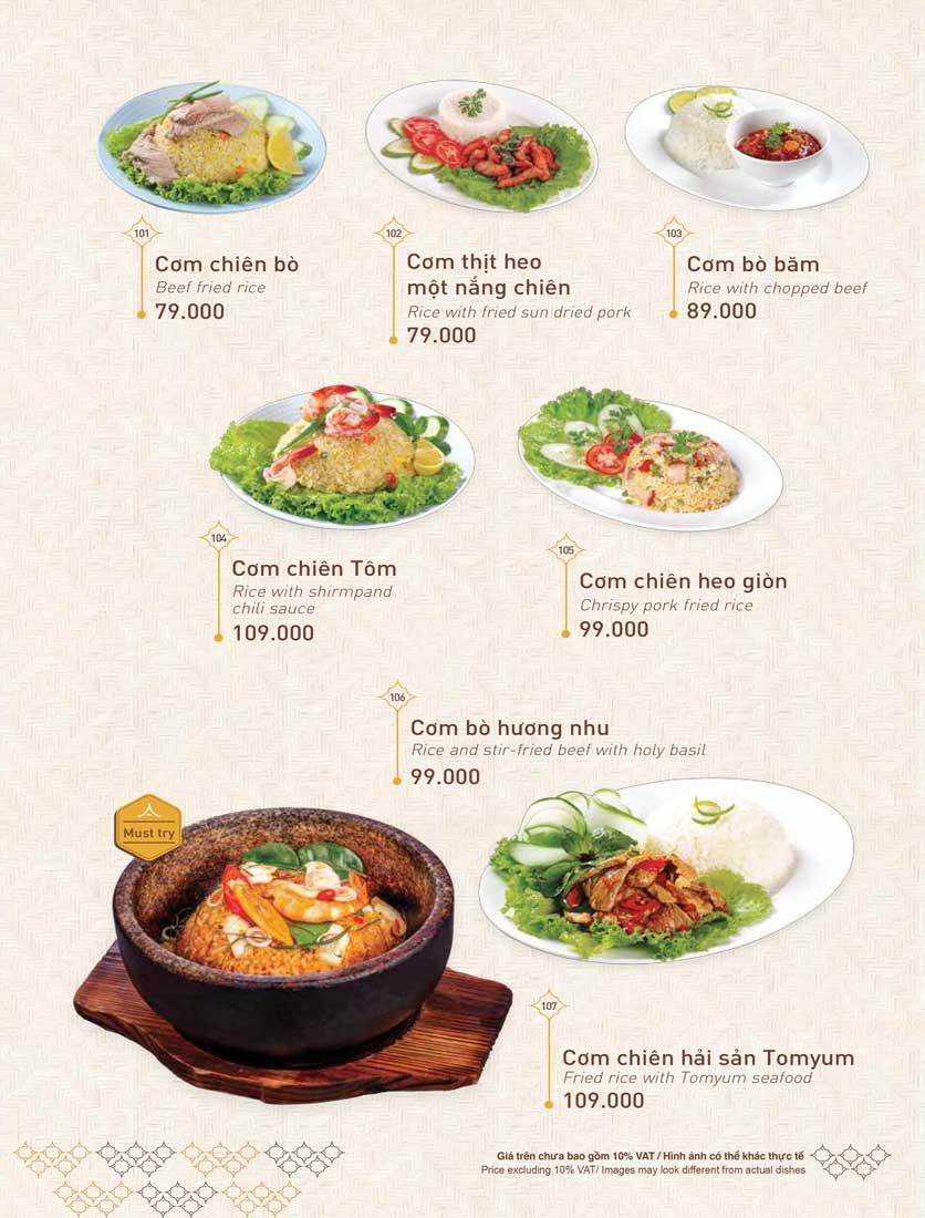Menu Khao Lao - Duy Tân 27